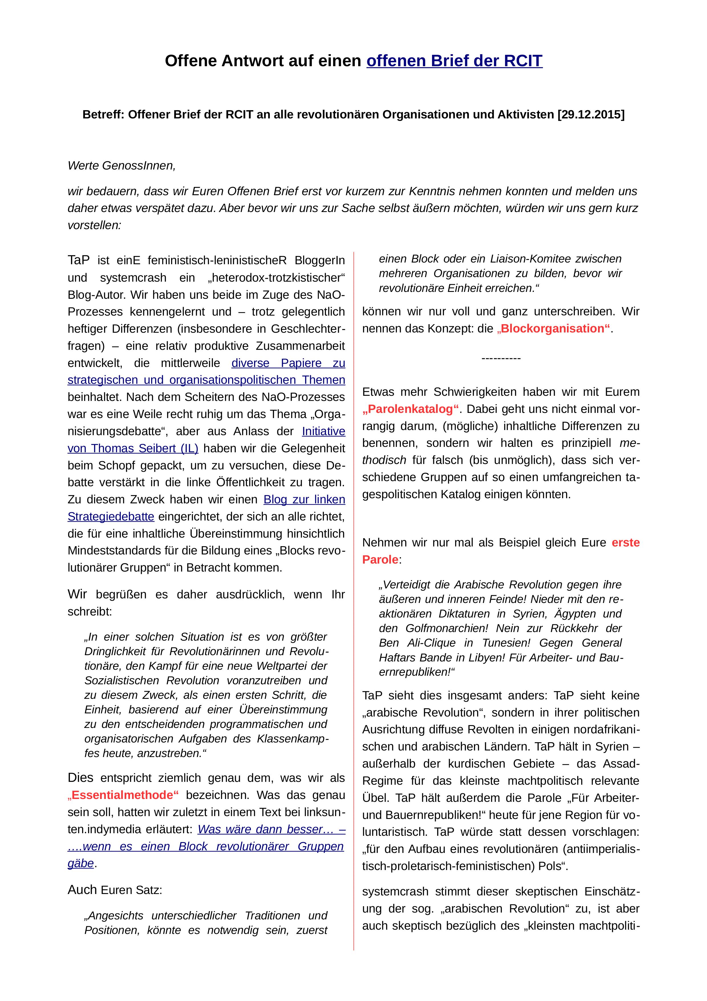 S. 1 des Textes von systemcrash und TaP