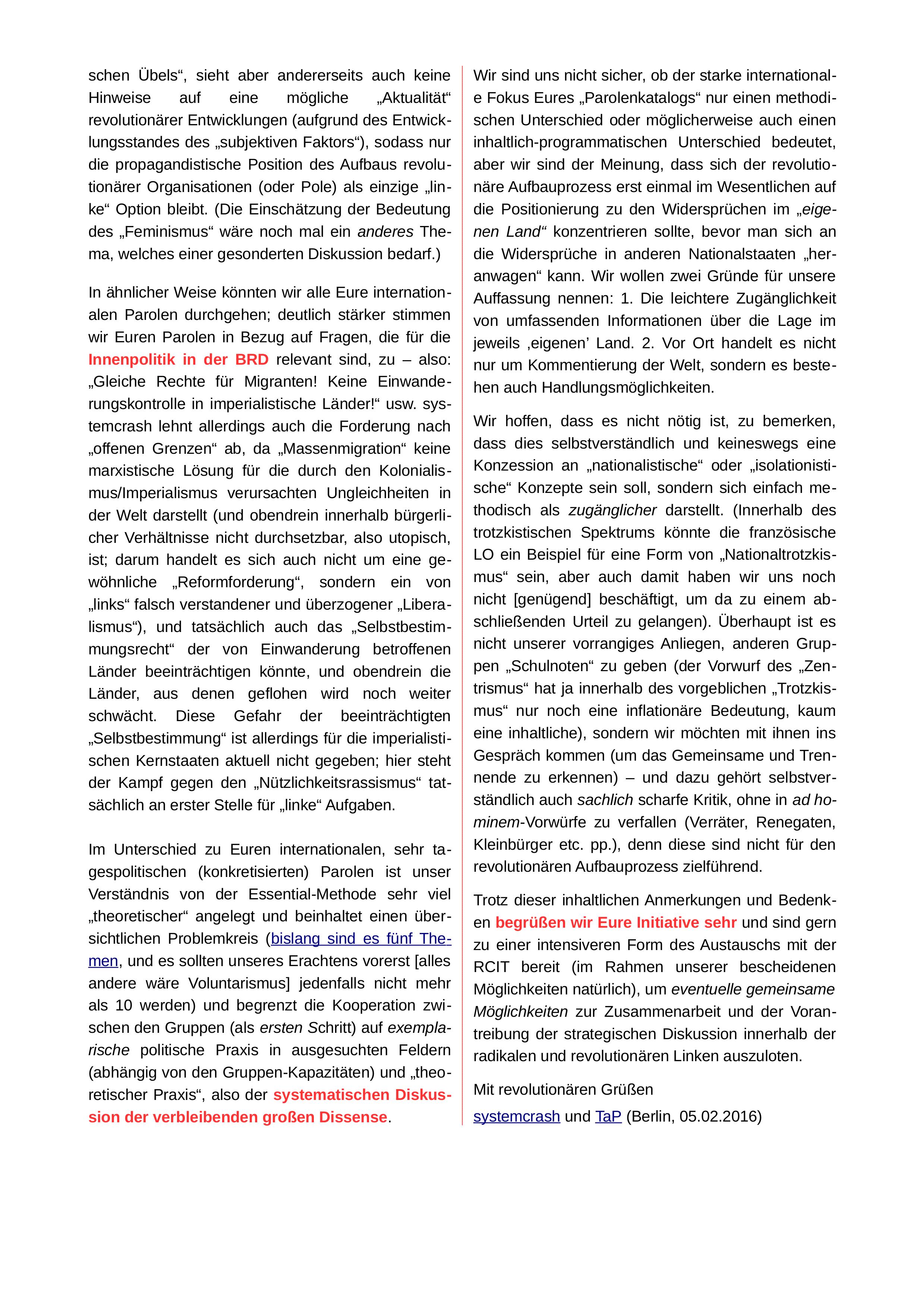 S. 2 des Textes von systemcrash und TaP